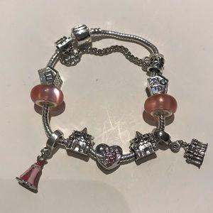 Jewelry - Brand New Pink Princess Charm Bracelet